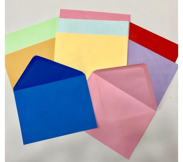 13x18cm Renkli Büyük Zarf