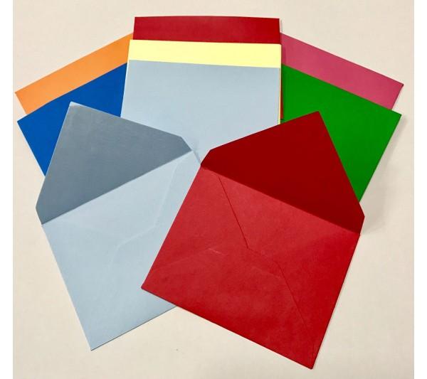 7x9cm Renkli Küçük Boy Zarf