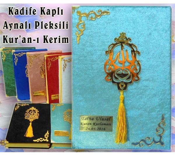 16x24 cm Kadife Kaplı Kur'an-ı Kerim