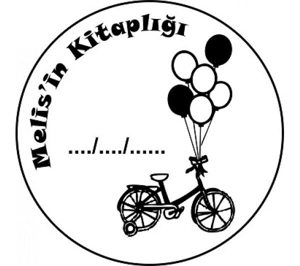 Balonlu Bisiklet Mühür